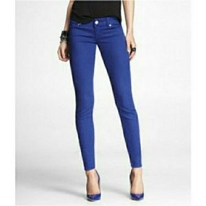 Express Cobalt Blue Zelda Jeggings